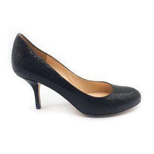 KATE SPADE Black Glitter Kitten Heel Pumps